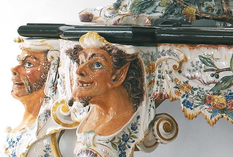 Specchiera con consolle - particolare - Manifattura G.B.Viero 1884 ca. - INV. 2004.09.jpg